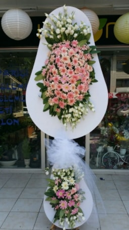 Çift katlı özel şahane sepet çiçeği  Rize çiçek online çiçek siparişi