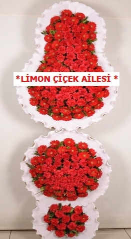 3 katlı kırmızı düğün açılış çiçeği  Rize hediye sevgilime hediye çiçek