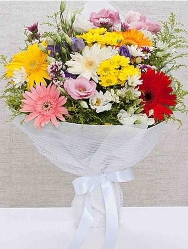 Karışık Mevsim Buketleri  Rize kaliteli taze ve ucuz çiçekler