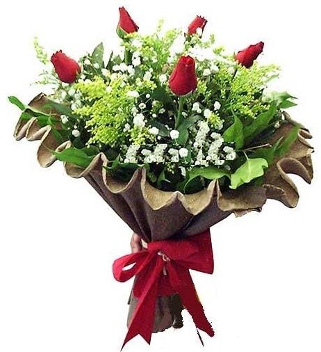 5 adet gülden buket  Rize 14 şubat sevgililer günü çiçek