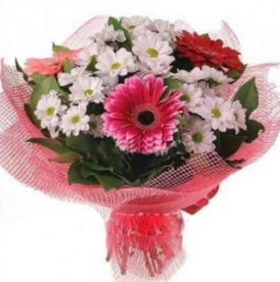 Gerbera ve kır çiçekleri buketi  Rize çiçek gönderme sitemiz güvenlidir