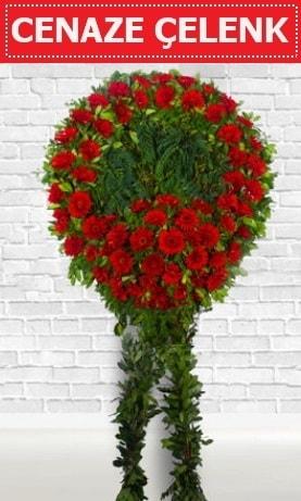 Kırmızı Çelenk Cenaze çiçeği  Rize uluslararası çiçek gönderme