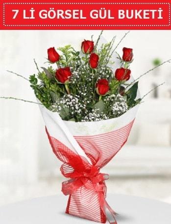 7 adet kırmızı gül buketi Aşk budur  Rize çiçek servisi , çiçekçi adresleri