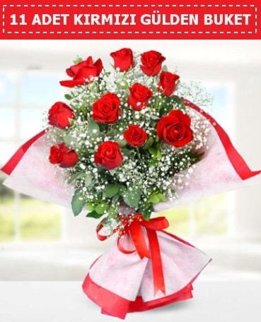 11 Adet Kırmızı Gül Buketi  Rize çiçek gönderme sitemiz güvenlidir