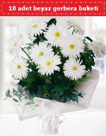 10 Adet beyaz gerbera buketi  Rize çiçek mağazası , çiçekçi adresleri