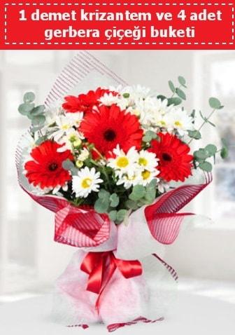 Krizantem ve Gerbera Buketi  Rize online çiçekçi , çiçek siparişi