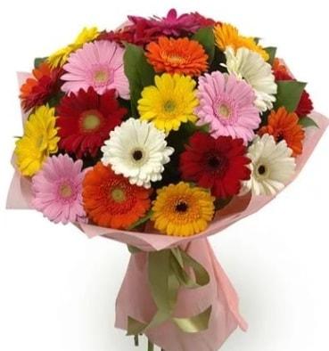Karışık büyük boy gerbera çiçek buketi  Rize çiçek servisi , çiçekçi adresleri